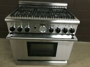 Thermador Pgr366zs 36 Gas Pro Grand Range 6 Burners Stainless