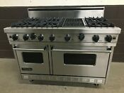 Viking 48 Pro Range Vgrc485 6qss Gas 6 Burners Grill Stainless Steel