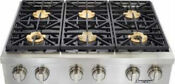 Dacor Discovery Dyrtp366s Ng 36 Inch Gas Rangetop 6 Sealed Burners Stainless
