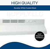White Over The Stove Range Hood 30 Non Ducted Exhaust Fan Under Kitchen Cabinet