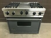 Viking Vgic367 4ggg 36 Professional Gas Range Oven 4 Burner Griddle Gray