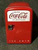 Coca Cola Mini Fridge Cooler Personal Fridge Koolatron Model Kwc 4u