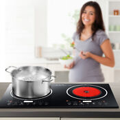 Commercial 2400w Induction Burner Electric Portable Countertop Cooktop Cooker Us