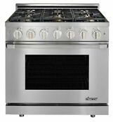 Heritage 36 Stainless Steel Natural Gas Sealed Burner Range With Pro Handle