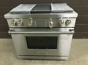 Wolf Df364g 36 Professional Dual Fuel Range Stove 4 Burners Griddle Ss Knobs