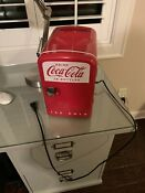 Coke Miniature Fridge Vintage Collectors Item Holds 6 Cans Brand New