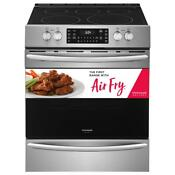 Front Electric Range With Air Fry In Stainless Steel True Convention 30 In