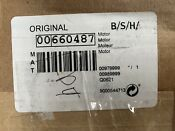 Bosch Washer Motor 00660487 Assembly 100 Genuine Part