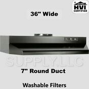 Black Over The Stove Range Hood Ducted 36 Exhaust Fan Kitchen Under Cabinet