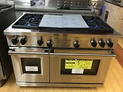 Wolf Df484cg 48 Inch Pro Style Dual Fuel Range With 4 Burners Griddle And Grill