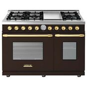 Tecnogas Superiore Deco Series 48 Freestanding Natural Gas Range Rd482gcmg