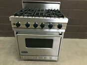 Viking Vgsc306 4bss 30 Pro Gas Range Oven 4 Burner Stainless Self Clean