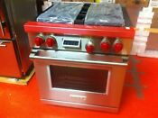 30 Wolf Dual Fuel Range Df304 Used