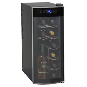 Red Wine Cooler Refrigerator 12 Bottle Electric Fridge Countertop Thermoelectric