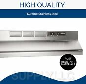 Over Stove Range Hood Non Ducted Stainless Steel 30 Under Kitchen Cabinet Fan