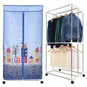850w Electric Clothes Dryer Laundry Heater Folding Rack Wardrobe Air Dry Machine