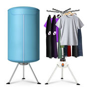 Portable Clothes Dryer Ventless Heater Drying Hanging Machine Foldable Blue