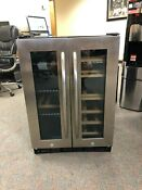 Insignia 42 Bottle Or 114 Can Dual Zone Wine And Beverage Cooler Ns Bc2zss8