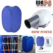 800w Portable Electric Clothes Dryer Heater Rack Wardrobe Air Drying Bag Machine