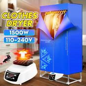 1500w Clothes Dryer Portable Drying Rack Remote Control For Laundry New