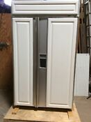 Sub Zero Refrigerator 690 F Ser No 1475944 Side By Side Custom Panel Feb 1999