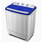 Portable Mini Washing Machine Compact Twin Tub 11lb Washer Spin Dryer White