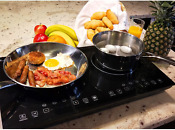 Evergreen Home 1800w Double Digital Induction Cooker Cooktop Portable Countertop