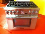 36 Thermador Professional Gas Range Prg366jg Used