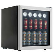 Refrigerator Mini Beer Beverage Fridge Glass Door Black 62 Can Beverage Cooler
