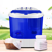 Zokop Portable Washing Machine Compact Twin Tub Laundry Washer Spin Dryer