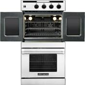 American Range 30 Legacy Series Top French Door Gas Double Wall Oven Arofsg230n