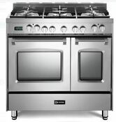 Verona Vpfsee365dss 36 Electric Double Oven Range Convection Stainless Steel