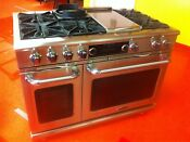 48 Capital Connoisseurian Series Dual Fuel Range Cob484g2n Used Natural Gas On