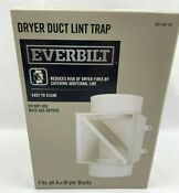 Everbilt Dryer Duct Lint Trap Fits 4 Inch Dryer Ducts New