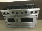 Viking Vgic488 4qss 48 Professional Gas Range Oven 4 Burner Double Grill