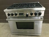 Wolf Df366 Professional Dual Fuel 36 Range Stove 6 Burners