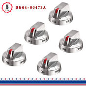 Dg64 00473a Top Burner Control Dial Knob Range Oven Replacement Stainless Steel