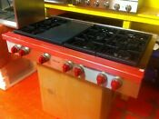 48 Wolf Gas Range Top Srt486g Used