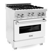 Zline 30 4 0 Cu Ft Range With Gas Stove And Gas Oven In Durasnow Ss W Tn 741
