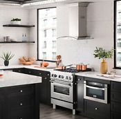 Zline 30 4 0 Cu Ft Dual Fuel Range W Gas Stove And Electric Oven Ra 30 Ln