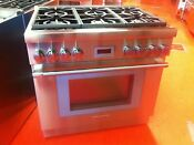 36 Thermador Gas Range Prg366wh Used 2019 Model