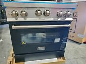Zline 30 Professional Gas Stove Electric Oven Black Stainless Steel Rgs 36 Ln