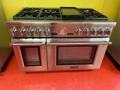 48 Thermador Professional Gas Range Prg486nlg 04 Used 2016