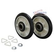349241t Dryer Drum Roller Kit For Whirlpool Kenmore Roper Ap3098345 Ps347627