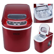 Deluxe 26 Lbs Day 2 Size Portable Counter Ice Cube Maker Machine Etl Ul Listed