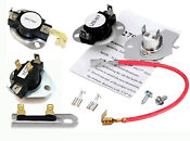 New Parts 3977767 3392519 3387134 279816 Roper Clothes Dryer Thermostat Kit