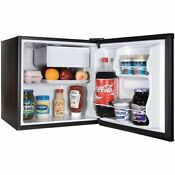 1 7 Cu Ft Refrigerator Black Door Freezer Mini Fridge Side Compact Cooler New