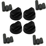 Oven Control Knob Black Generic Design Stove Switch Knob X4 12 Adapters