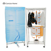 Concise Home Electric Clothes Dryer Stainless Steel Indoors Tri Layers Fast