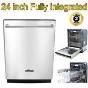 24 Fully Integrated Dishwasher Compact Smart Energy Star Apartment Dish Washer